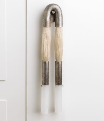 APPARATUS – HORSEHAIR SCONCE ON WHITE PANEL B